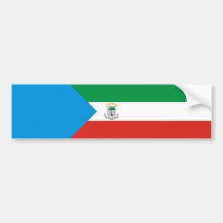 長の赤道ギニアの国旗の国家の記号 バンパーステッカー