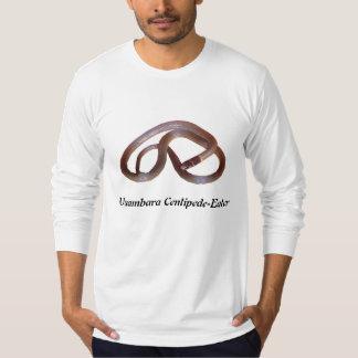 長のUsambaraのムカデ食べる人のアメリカの服装 Tシャツ