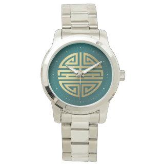 長寿|の素晴らしい漢字 腕時計