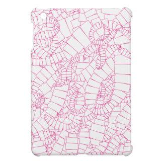 長方形のピンクの渦 iPad MINIケース