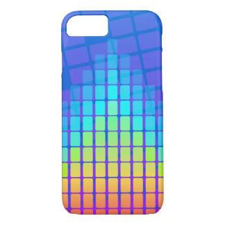 長方形の虹によって着色されるピラミッド iPhone 8/7ケース