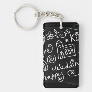 長方形(独身の味方される) Keychain キーホルダー