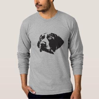 長袖のドイツShorthairedポインターのTシャツ Tシャツ