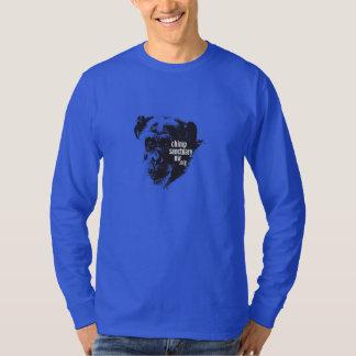 長袖の人かユニセックスなチンパンジーの聖域NWのワイシャツ Tシャツ