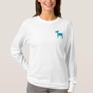 長袖の白いソムのTシャツ(フェミニンな切口) Tシャツ