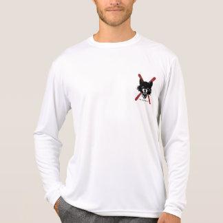 長袖Wolfpackの男性Microfiber Tシャツ