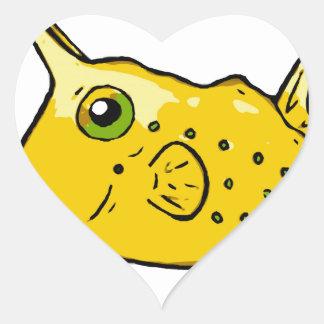 長角牛のCowfish ハートシール