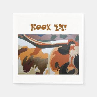 長角牛牛パーティのナプキン スタンダードカクテルナプキン