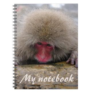 長野、日本の孤独な雪猿 ノートブック