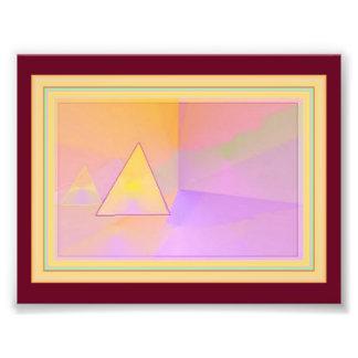 門脈の抽象美術-よりはっきりしたな背景 フォトプリント