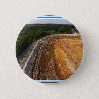 閉鎖した採鉱区域99のカナダの景色 5.7CM 丸型バッジ