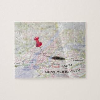 閉鎖した050の地図の地図の地図ピン ジグソーパズル
