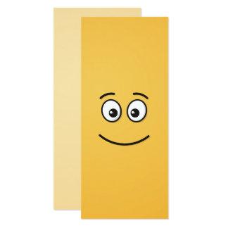 開いた目が付いている微笑の顔 カード