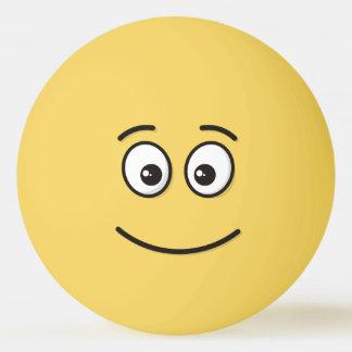 開いた目が付いている微笑の顔 卓球ボール