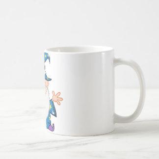 開いた腕を搭載するフレンドリーな魔法使い コーヒーマグカップ