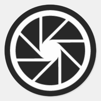 開きのクラシックな円形のステッカー ラウンドシール