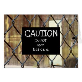 …開けないで下さい カード