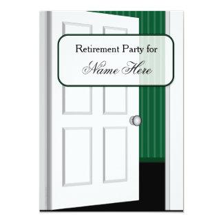 開放された退職パーティ カード