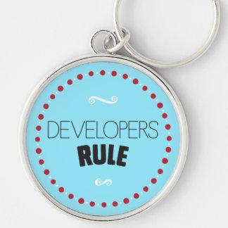 開発者の規則Keychain -青 キーホルダー