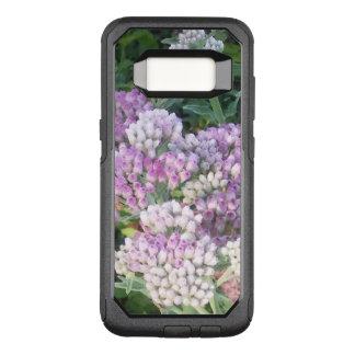 開花する紫色および白 オッターボックスコミューターSamsung GALAXY S8 ケース