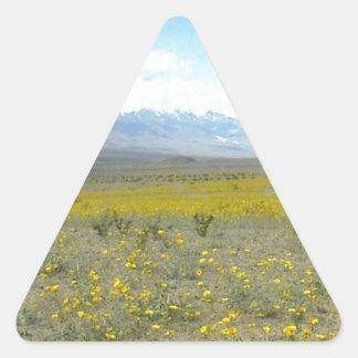 開花のデスヴァレー 三角形シール