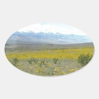 開花のデスヴァレー 楕円形シール