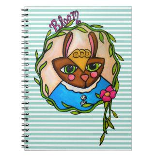 開花のバニーのノート ノートブック