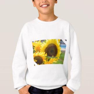 開花のヒマワリ スウェットシャツ
