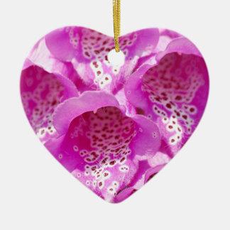 開花のピンクのfoxgloveの花 セラミックオーナメント