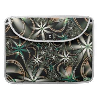 開花のフラクタルの優雅 MacBook PROスリーブ