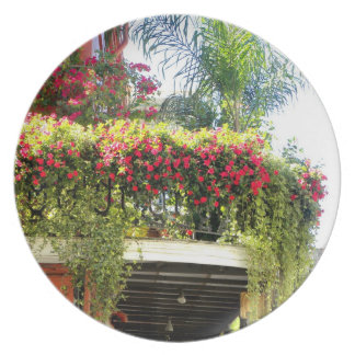 開花のプレートのニュー・オーリンズのバルコニー プレート
