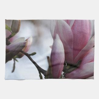 開花のマグノリア キッチンタオル
