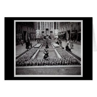 開花のロックフェラーの中心1952 NYCのHyacinths カード