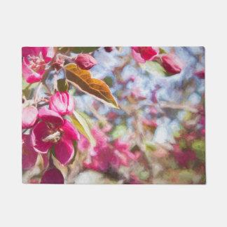開花の玄関マットの桜 ドアマット
