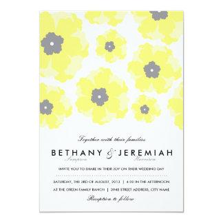 開花の結婚式招待状の愛 カード