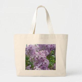 開花の薄紫 ラージトートバッグ