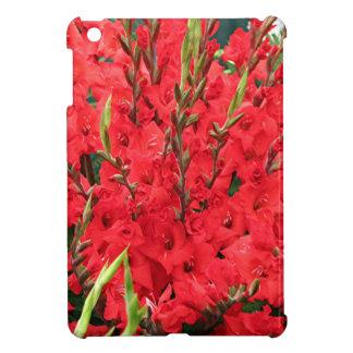 開花の赤いグラジオラスの花 iPad MINIケース
