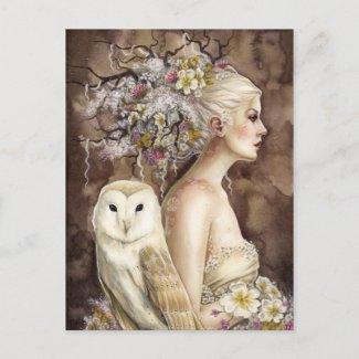 開花のBlodeuwedd ポストカード
