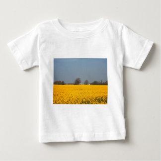 開花及び国のコテージの分野 ベビーTシャツ