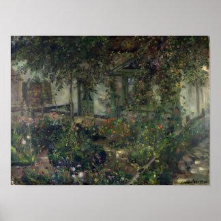 開花1904年の花園 ポスター