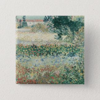 開花、Arles 1888年のフィンセント・ファン・ゴッホ|の庭 5.1cm 正方形バッジ