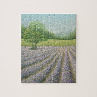 開花、CarshaltonのパズルのMayfieldのラベンダー ジグソーパズル
