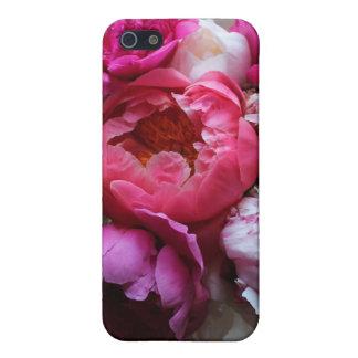 開花- iPhone 5カバーのピンク及び白いシャクヤク iPhone SE/5/5sケース