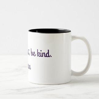 間抜けがあって下さい、正直があって下さい、親切があって下さい。 -エマーソン ツートーンマグカップ