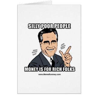 間抜けで貧しい人々 カード