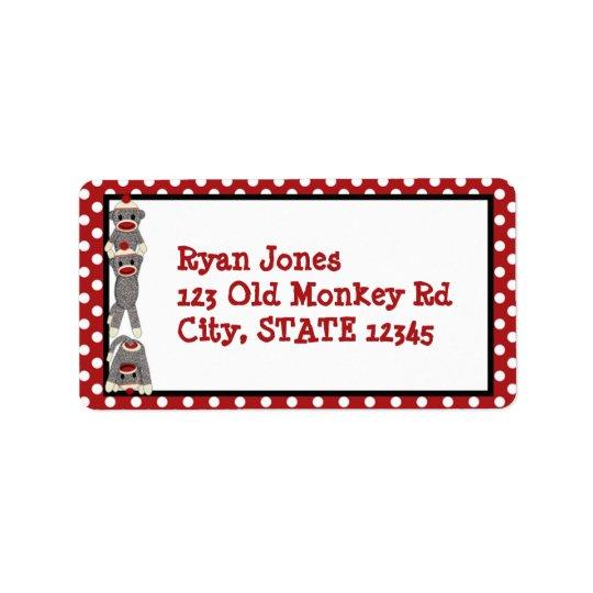 間抜けなソックス猿の誕生日の宛名ラベルSMR ラベル