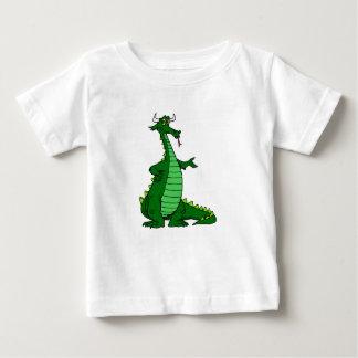 間抜けなドラゴンの緑 ベビーTシャツ