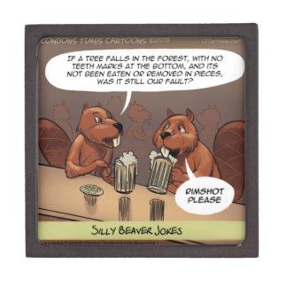 間抜けなビーバーはおもしろいな漫画冗談を言います ギフトボックス