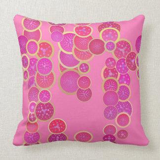間抜けなピンクの円の枕 クッション