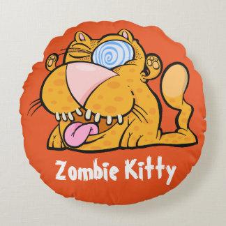 間抜けなモンスターのゾンビの子猫の装飾用クッション ラウンドクッション